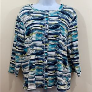 Hannah Long Sleeve Front Button Shirt  Size L
